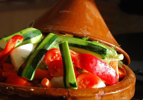 Tajine de riz et petits légumes